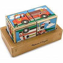 Melissa & Doug Vehicles Sound Blocks