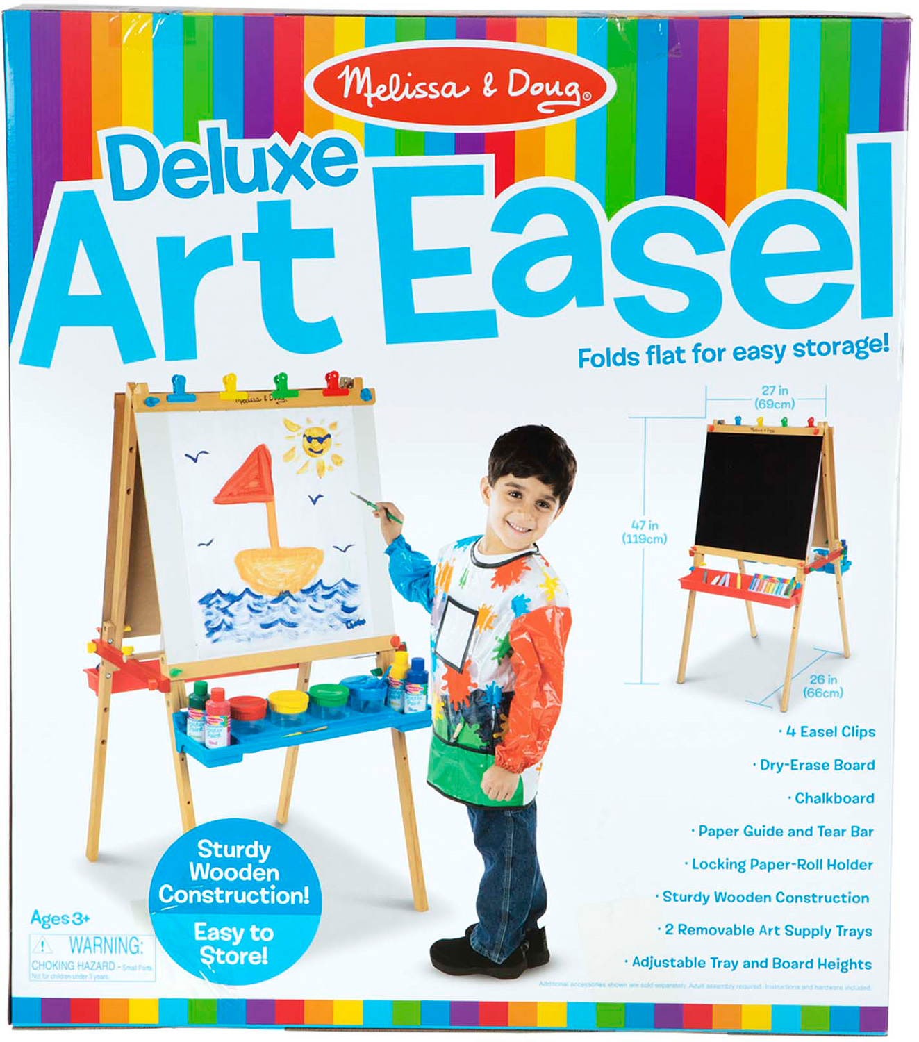 Deluxe Wooden Standing Art Easel Timbuk Toys