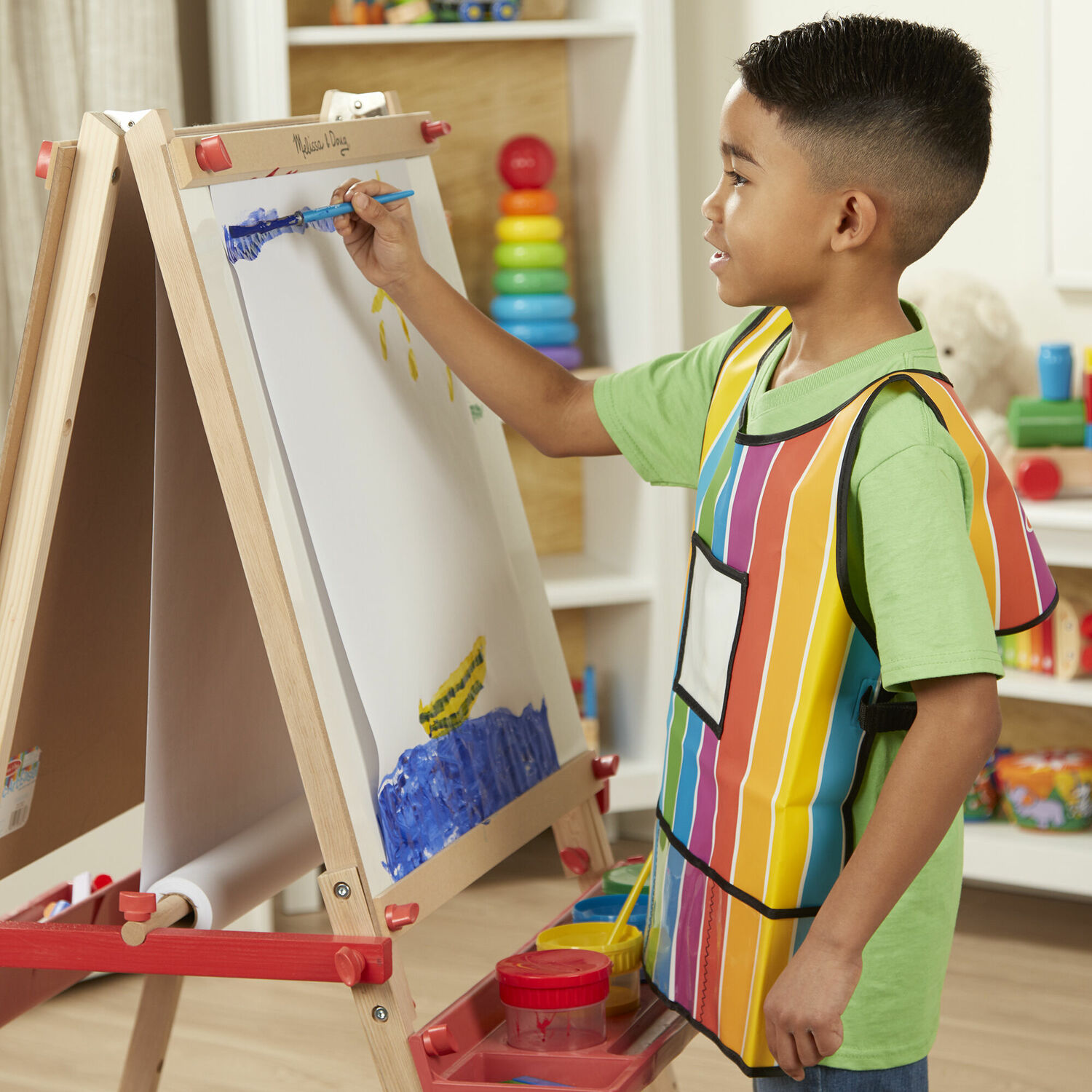 melissa and doug easel paper Melissa & doug easel accessory set - paint, cups, brushes, chalk, paper, dry-erase marker: melissa & doug: amazonca: toys & games.