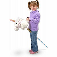 Prance-n-play Stick Unicorn  Plush