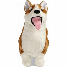 Lifelike Plush Corgi