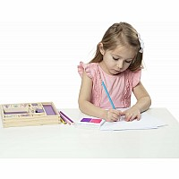 Wooden Princesses Stamp Set