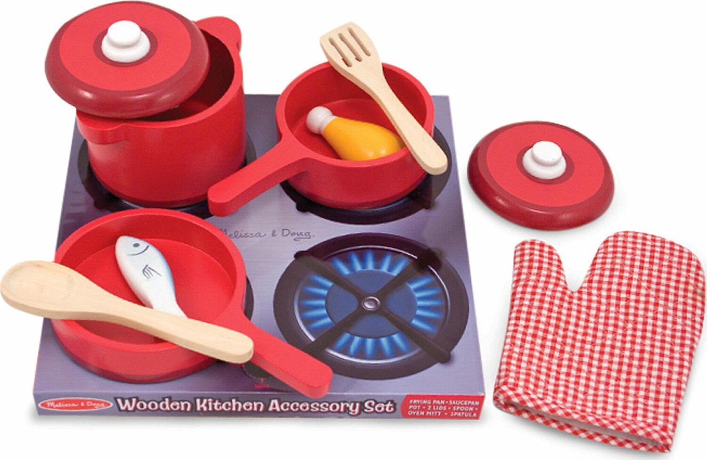 Wooden Kitchen Accessory Set Brains N Motion