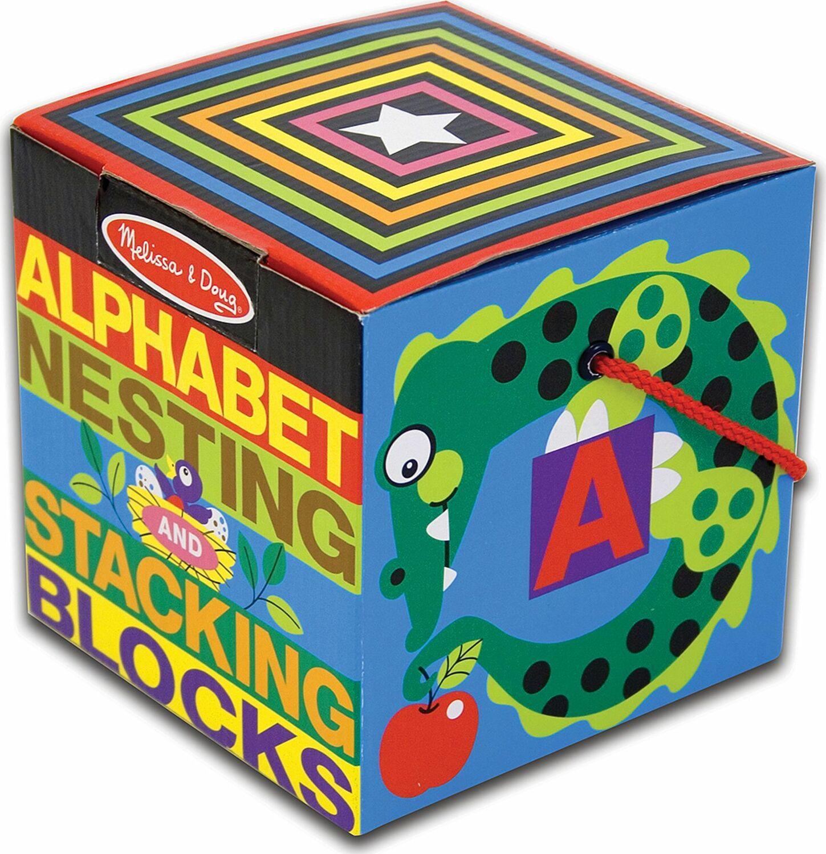 Alphabet Nesting Stacking Blocks Melissa Doug Dancing