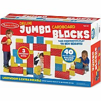 Jumbo Cardboard Blocks (40 piece set)
