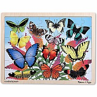 Butterfly Garden Wooden Jigsaw Puzzle  48pc