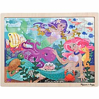 0048 Piece Wooden Jigsaw Puzzle Mermaid Fantasea