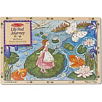 Lily Pad Journey Wooden Jigsaw Puzzle - 96 pc