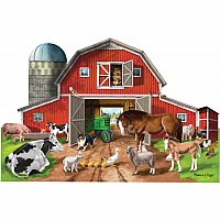 Floor Puzzle (32 pieces) - Busy Barn Shaped