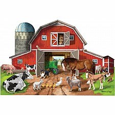 Busy Barn Shaped Floor Puzzle (32 pieces)