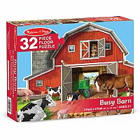 32 pc Busy Barn Shaped Floor Puzzle