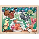 Playful Pets Wooden Jigsaw Puzzle, 12 Piece