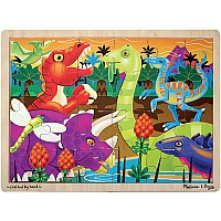 24 pc Prehistoric Sunset dinosaurs Jigsaw Puzzle