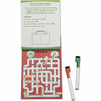 Animal Games Wipe-Off Activity Pad - On the Go Travel Activity