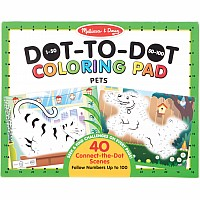 123 Dot-to-Dot Coloring Pad - Pets
