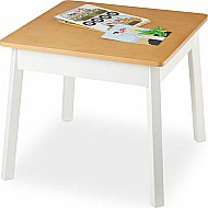 Basic Square Table White/ Natural