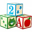Jumbo Wooden ABC-123 Blocks - Classic