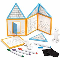 Magnetivity Magnetic Building Play Set - Draw & Build House