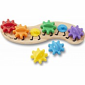 Rainbow-colored Caterpillar Gear Toy