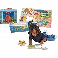 Natural Play Book & Puzzle: Deep Blue Sea