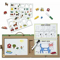 Natural Play: Play, Draw, Create Reusable Drawing & Magnet Kit - Farm