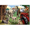 0100 PC In the Barnyard Cardboard Jigsaw