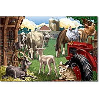 100 PC In the Barnyard Cardboard Jigsaw