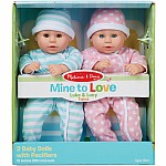 Twins Mine to Love Luke & Lucy Dolls