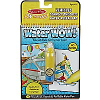 Water Wow! Connect The Dots Vehicles - On The Go Travel Activity
