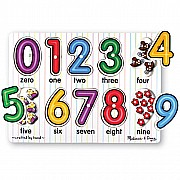 Puzzle Peg Number White 0-9