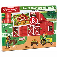 Around The Farm Sound Puzzle ( 8 Piece)