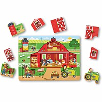 Melissa & Doug Around The Farm Sound Puzzle ( 8 Piece)