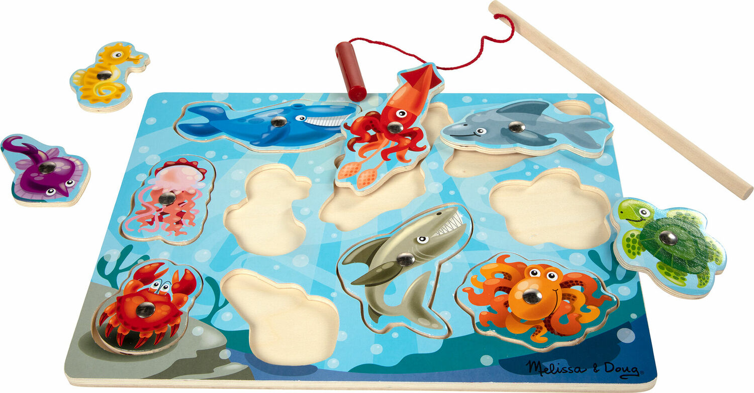 Fishing magnetic puzzle game amazing toys for Fishing net crossword clue