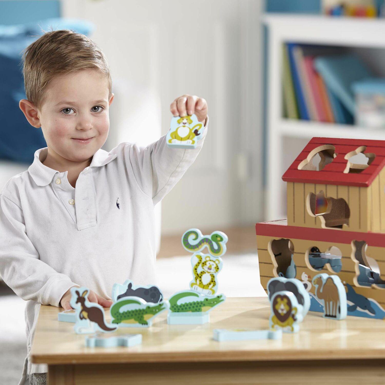 Dinosaurs Mdf Toy Box Childrens Storage Toys Games Books: Noah's Ark Shape Sorter