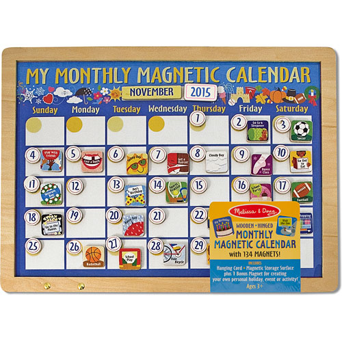 Weekly Calendar Magnet : Bright idea toys my monthly magnetic calendar