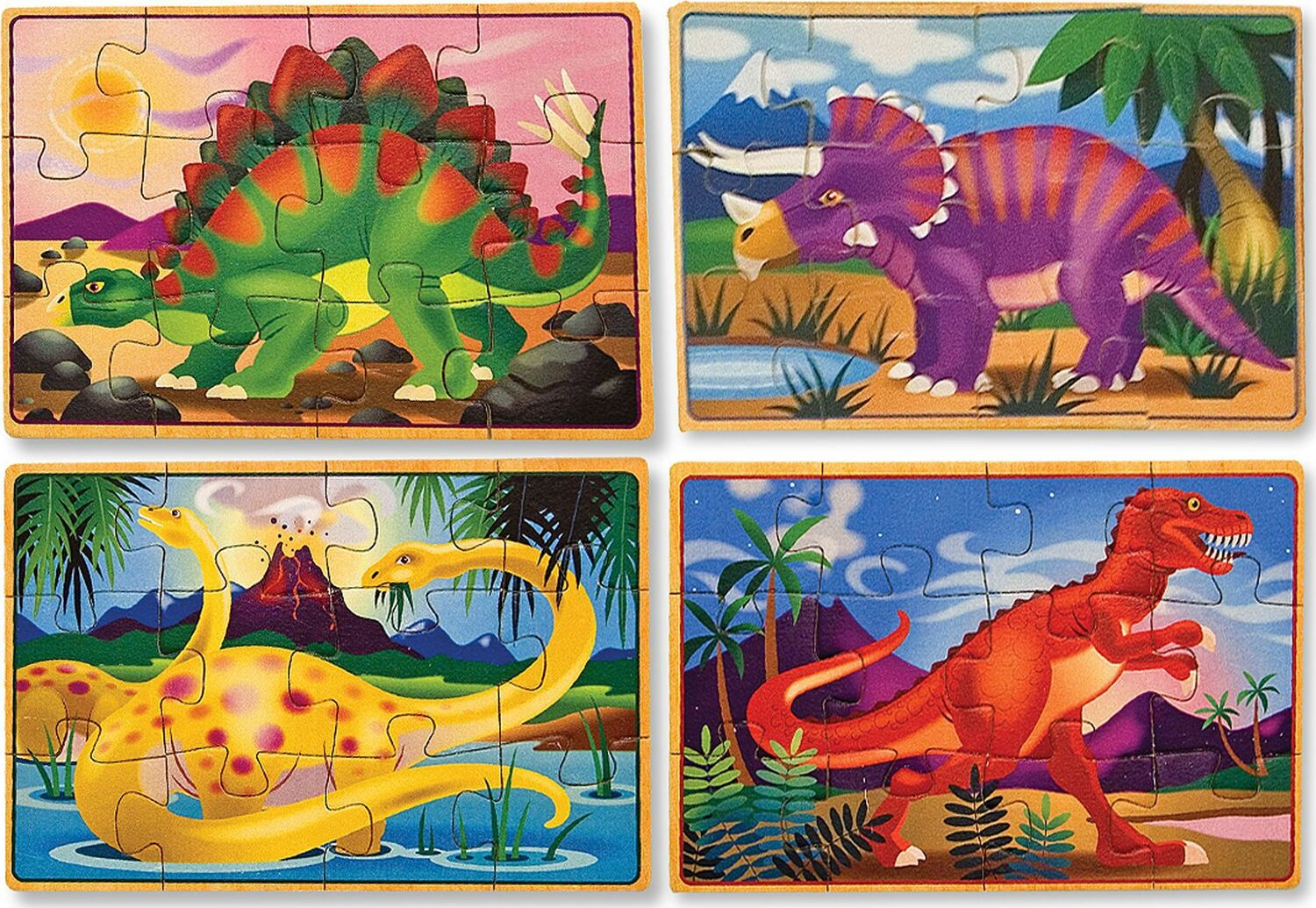 Dinosaurs Mdf Toy Box Childrens Storage Toys Games Books: Dinosaurs Puzzles In A Box