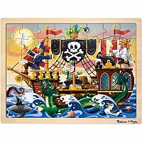 0048 Piece Wooden Jigsaw Puzzle Pirate Adventure Jigsaw