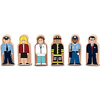 Wooden People at Work Set