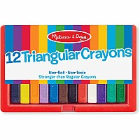 12 Triangular Crayons
