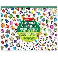 M&D Alphabet & Numbers Sticker Collection