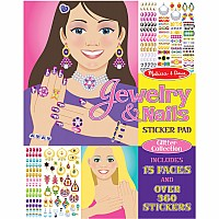 Jewelry and Nails Glitter Collection Sticker Pad