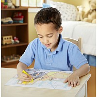 M&D Jumbo Coloring Pad - blue