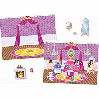 Princess Castle Reusable Stickers