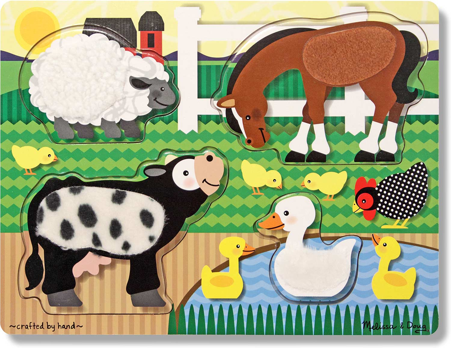 Touch And Feel Toys : Farm touch and feel puzzle melissa doug