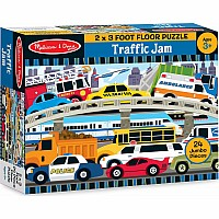 Traffic Jam Floor Puzzle 2'x3' (24 pc)