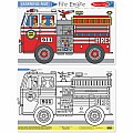 Fire Engine Color-A-Mat (Bundle of 6)