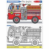 Fire Engine Color-a-mat each