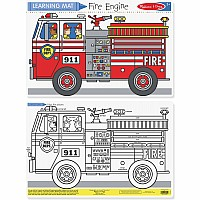 Fire Engine Color-A-Mat