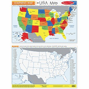 U.S.A. Map Learning Mat