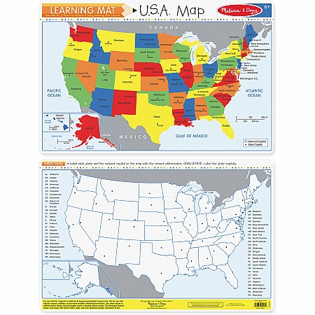 The United States Write-A-Mat (Bundle of 6)